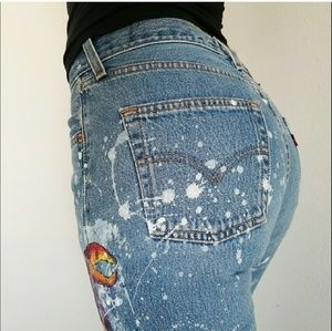 Vintage Levi's 501s.. Hand-painted!! ❤